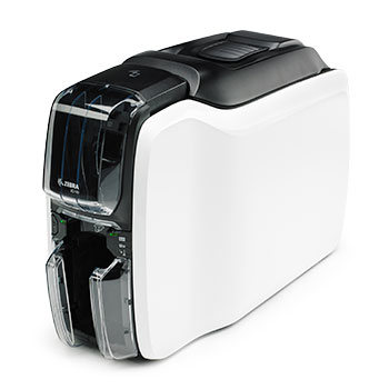 Front View of Zebra ZC100 Card Printer