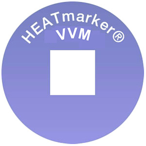 HEATmarker vaccine vial monitors