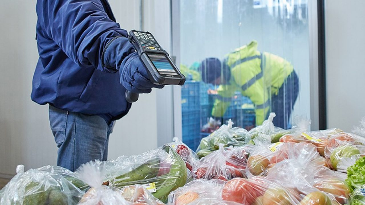 Zebra device being used in cold chain management operations
