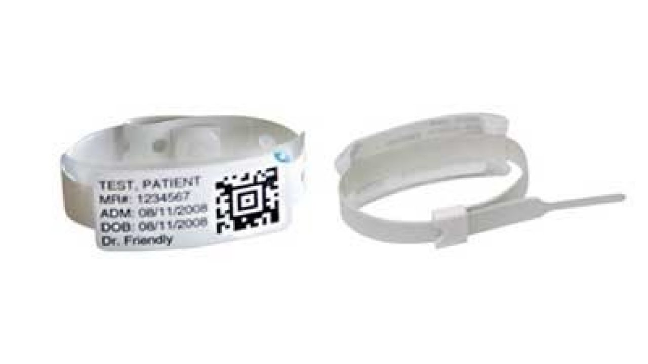 Zebra Vinyl Infant Wristbands