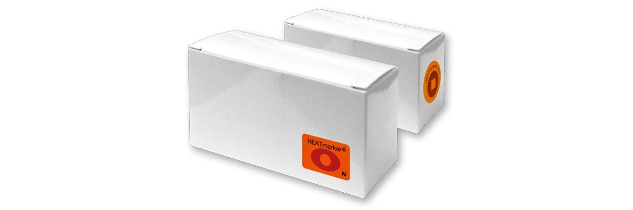 Boxes of HEATmarker heat indicators